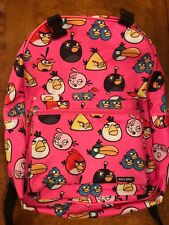 HTF PINK Angry Birds Backpack From Old Navy - Stella Red Bomb Chuck Hal Blues