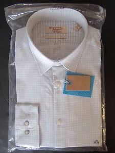 NEW NWT PENGUIN MUNSINGWEAR chrome white MEN DRESS SHIRT sz 16 LONG SLEEVE 32/33
