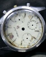 Mathey Tissot Small Button Chronograph Very Rare Case and Dial Only for Spares