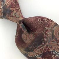 WOODWARD Tie ART DECO Abstract Brown Gray Silk Men Necktie Excellent Ties I5-9