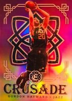 GORDON HAYWARD PRISM REFRACTOR 2016-17 Excalibur Crusade PURPLE PRIZM SP /49 SSP