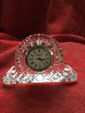 NEW FLAWLESS Exceptional WATERFORD Ireland Crystal LISMORE CLOCK