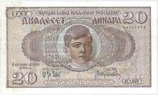 More details for 1936 yugoslavia 20 dinara bank note   pennies2pounds