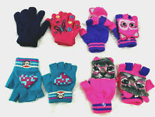 Unbranded Girls Gloves Mittens 5 available-cat, butterfly, heart, and solid navy