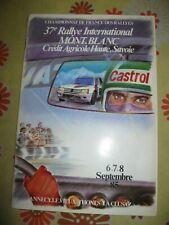 Ancien REGLEMENT 37e RALLYE AUTOMOBILE DU MONT-BLANC 1985 FFSA Groupe B Rally 85