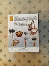 Mock Tortoise Kingsley Shave Set w/ Mach III Razor, New In Box