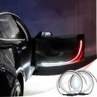 2x Car Door Open Warning Lamp Flashing LED Lights Strip Anti-collision Safety