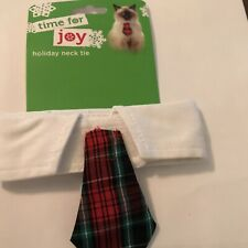 Time for Joy Cats Plaid Neck Tie Holiday