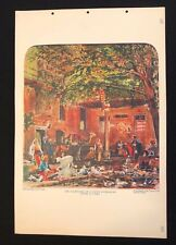 Vintage 1930s Poster School Chart Print COPTIC PATRIARCHS HOUSE IN CAIRO No 165
