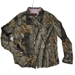 OUTFITTERS RIDGE Mens Youth XL (16-18) Realtree Long Sleeve Button Up Camo Shirt