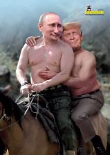 Putin und Trump Poster `` Männerfreundschaft `` vom Karikateur `` Dagobert ``