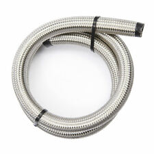 """AN -10 (14mm) 9/16"""" Stainless Braided PTFE Fuel Hose 1 m"""
