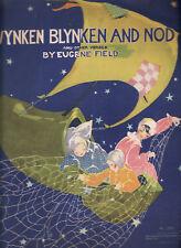 WYNKEN BLYNKEN & NOD & OTHER VERSES - EUGENE FIELD   vintage 1937 poetry