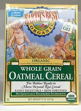 Earth's Best Organic Whole Grain Oatmeal Baby Cereal 8 oz Earths