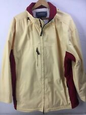 Obermeyer Delaney Mens Ski Jacket / Coat/ Shell Size Large Yellow and Red