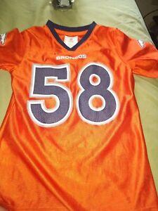 Nfl players girls medium 7/8 Denver Broncos Von Miller #58  Orange Jersey
