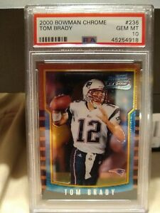 2000 Bowman Chrome #236 Tom Brady Patriots RC Rookie PSA 10 GEM MINT