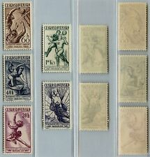 CECOSLOVACCHIA - 1958 - Serie SPORT (Un 1058/1062) - MNH