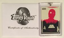OLLY MOSS 2017 TOPPS VAULT • STAR WARS • BLANK BACK PROOF with COA • 1/1 •