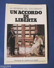 Un accordo di Libertà - La Revisione del Concordato - Edizione 1986