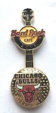 Hard Rock Cafe Pin Badge NBA BasketBall 3D Logo Guitar - Chicago Bulls