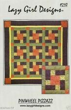 PINWHEEL PIZZAZZ~Lazy Girl Designs Pieced Quilt Pattern #210