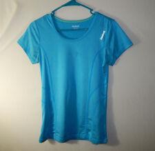 REEBOK Athletic Fitness WOMENS Clothing Blue Running Shirt Size XS