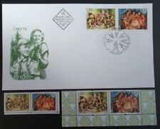 Bulgaria 2007, Europe, Scouts, Fdc+Set+Booklet Stamps, Free Shipping!