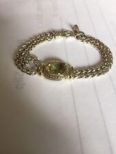 DAVID YURMAN Citrine Gold & Silver Bracelet