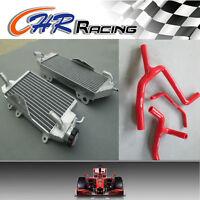 Aluminum Radiator and red hose for KAWASAKI KXF450 KX450F 2012 2013 2014 12 13
