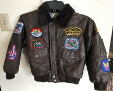 Vintage Child's Military Bomber Jacket: 8 Army Air Air Force Patches