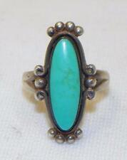BELL TRADING POST~VINTAGE~NATIVE AMERICAN~NAVAJO~STERLING SILVER~TURQUOISE~RING