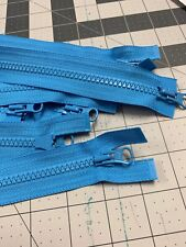 26inch Blue Dual Pulls Open Separating Ykk Zippers