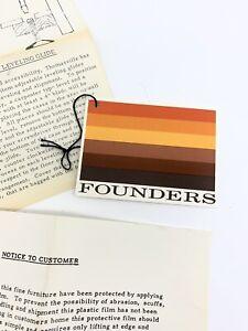 Mid-Century Founders Furniture Tag Paperwork Adverting Ephemera 50's 4x3