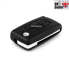 3 BUTTON FLIP REMOTE KEY FOB CASE FOR CITROEN C4 C5 C6 C8 REMOTE LIGHT