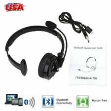 For Truck Driver Noise Cancelling Wireless Headphones Bluetooth Boom Mic Headset
