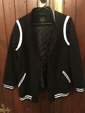 BLACK BOMBER JACKET BY NEW LOOK SIZE US 14 UK 18 EUR 46 BRAND NEW