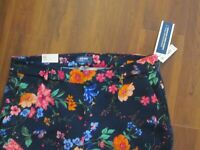 OLD NAVY Floral Mid-Rise Pants Size16 NWT $35