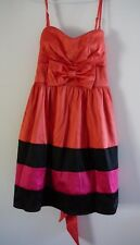 Hot Options Ladies Dress Size 12 Party Evening Sleeveless Orange Pink Black
