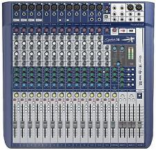 Soundcraft Signature 16 Analogue Mixer With Onboard Effects - Only 2 Months Old