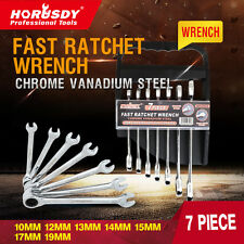 7PC Metric Ratchet Spanner Set Combination Ratcheting Head Gear Wrench New