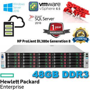 HP Proliant DL380e Gen8 2x E5-2450L 1.80GHz 48GB DDR3 P420/1GB FBWC 16-CORE