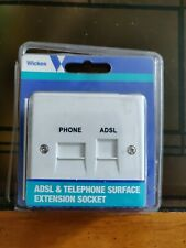 ADSL & TELEPHONE SURFACE EXTENSION SOCKET
