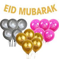 HAJJ MABROUR Party Decor Balloons Set RAMADAN KAREEM Paper Banner EID MUBARAK