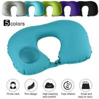 Practical U-Shaped Press Inflatable Tour Travel Pillow Air Cushion Head Neck  BG