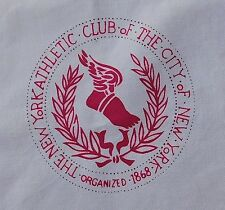 RARE! Vintage New York City Athletic Club 1868 Pair Napkins Logo