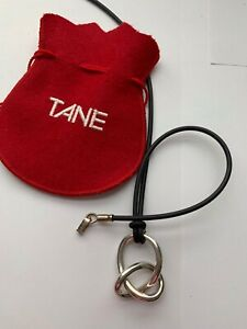 Vintage Tane Mexico handmade sterling Knot pendant Necklace premier luxury brand