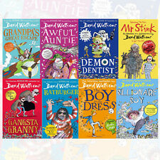 David Walliams Collection 8 Books Set Grandpa's Great Escape, Awful Auntie NEW