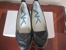 New AK Summer Winter Shoe Women Anne Klein Sport Black Flat Leather Sz 7