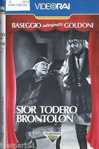 SIOR TODERO BRONTOLON   Baseggio / Goldoni  (1969) VHS Video RAI  - Teatro